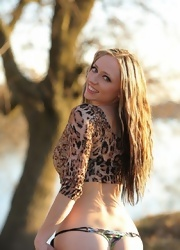 Lily Posing In Sexy Animal Print - Picture 13