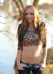 Lily Posing In Sexy Animal Print - Picture 1