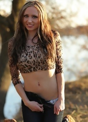 Lily Posing In Sexy Animal Print - Picture 8