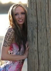 Lily Strips And Teases On The Docks - Picture 2