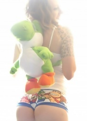 Lily Teases In Her Video Game Panties - Picture 4
