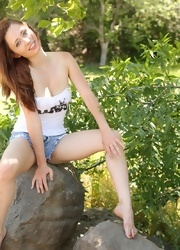 Lily Teases In Her Short Shorts - Picture 9